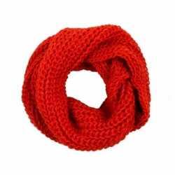Gebreide col sjaal rood volwassenen