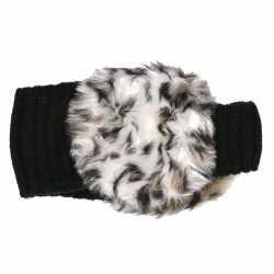 Gebreide hoofdband dierenprint oorwarmers dames