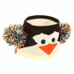Gebreide hoofdband pinguin dames