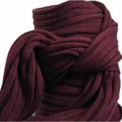Gebreide sjaal bordeaux volwassenen