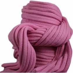 Gebreide sjaal roze volwassenen