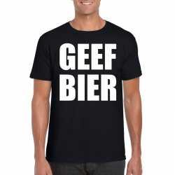 Geef bier heren t shirt zwart
