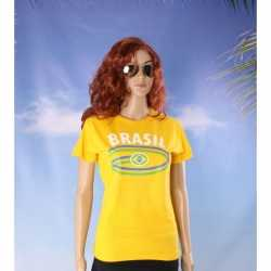 Geel dames t-shirt Brazilie