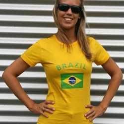 Geel dames t-shirt Brazilie