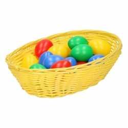 Geel paasmandje eieren 20