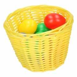 Geel paasmandje gekleurde eieren 14