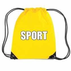 Geel sport rugtasje/ gymtasje kinderen