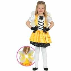 Geel vlinder kostuum meisjes