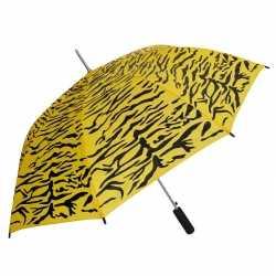 Geel/zwarte tijger print paraplu 80