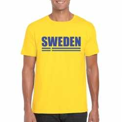 Geel zweden supporter t shirt heren