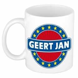 Geert jan naam koffie mok / beker 300 ml