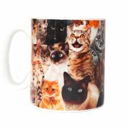 Gek van katten/poezen beker/mok 300 ml
