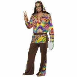 Gekleurd hippie pak heren