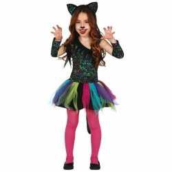 Gekleurd luipaard jurkje meisjes
