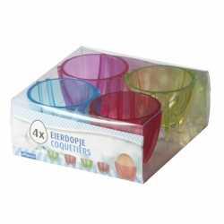 Gekleurde eierdopjes 4 stuks