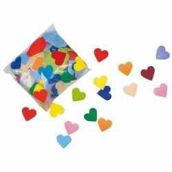 Gekleurde hartjes confetti 250 gram
