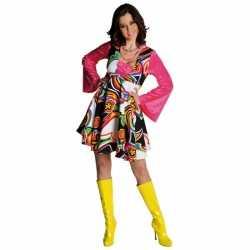 Gekleurde hippie jurk dames
