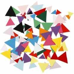 Gekleurde hobby karton driehoekjes 180 gram