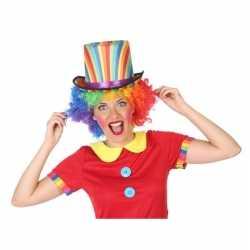 Gekleurde hoge clown verkleed hoed volwassenen