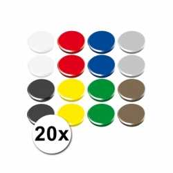 Gekleurde magneten setje 20 stuks
