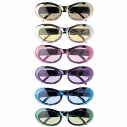 Gekleurde metallic party bril