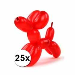 Gekleurde modelleerballonnen 25 stuks