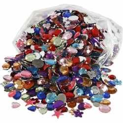 Gekleurde plak diamantjes 1600 stuks