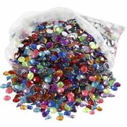 Gekleurde plak diamantjes 3000 stuks