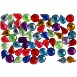 Gekleurde plak diamantjes 5mm 15 gr