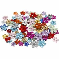 Gekleurde plak diamantjes bloem