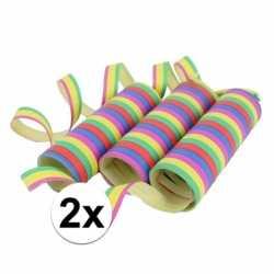 Gekleurde serpentine 6 rollen