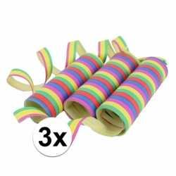 Gekleurde serpentine 9 rollen