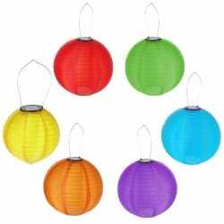 Gekleurde solar lampion 30