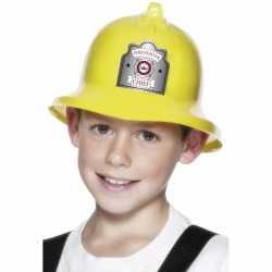 Gele brandweerhelm kinderen