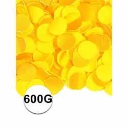 Gele confetti 600 gram