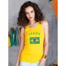 Gele dames tanktop Brazilie