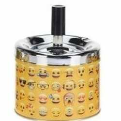 Gele draaiasbak verschillende emoji's 10 type 3