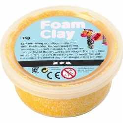 Gele foam klei 35 gram