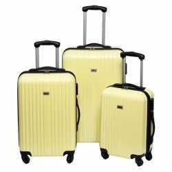 Gele grote reiskoffer 66