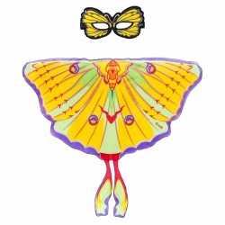 Gele komeetstaart vlinder verkleedset meisjes