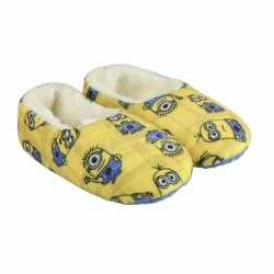 Gele minions pantoffels pluche meisjes