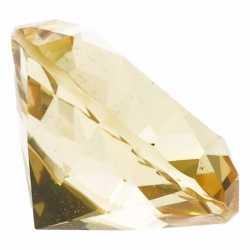 Gele nep diamant 4 van glas