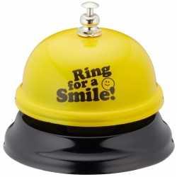 Gele tafelbel ring for a smile 7,5