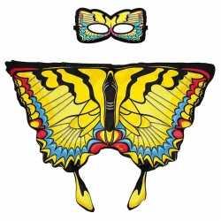 Gele zwaluwstaart vlinder verkleedset meisjes