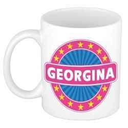 Georgina naam koffie mok / beker 300 ml