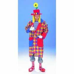 Geruite clown jas volwassenen