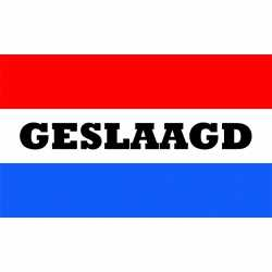 Geslaagd vlag nederlandse kleuren 150 bij 90