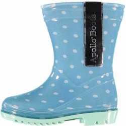 Gestipe lichtblauwe regenlaarzen meisjes