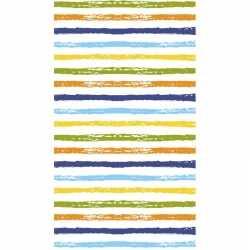 Gestreept tafellaken/tafelkleed 120 bij 180 gekleurd