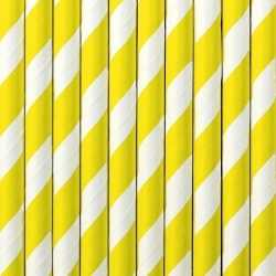 Gestreepte rietjes geel/wit